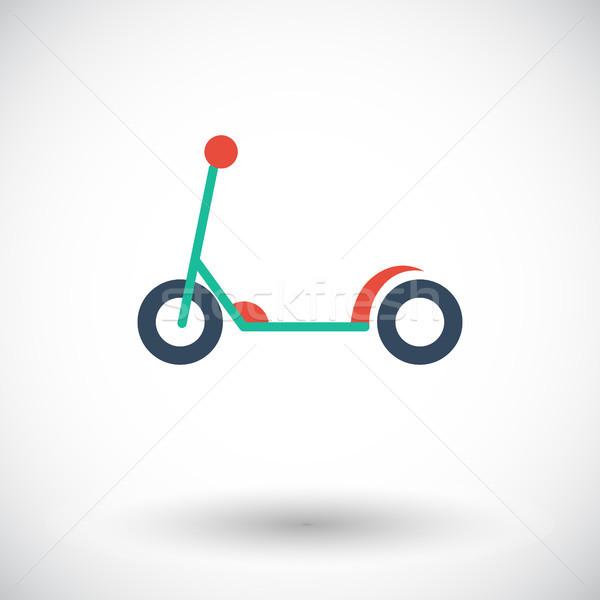 Moped gyermek ikon vektor háló mobil Stock fotó © smoki