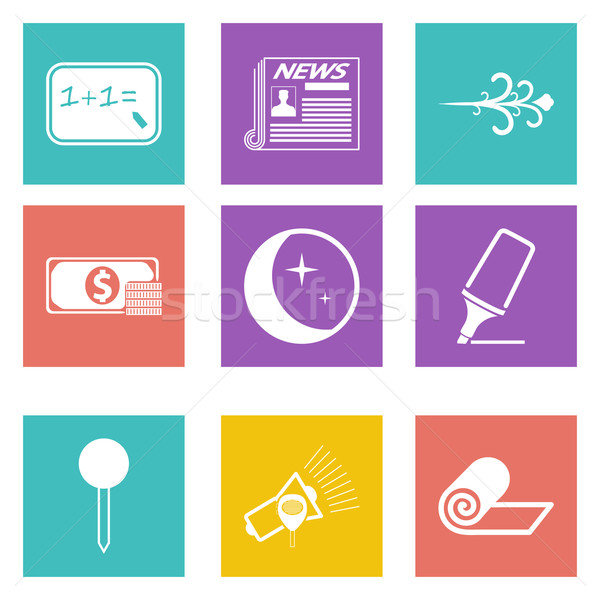 Icons for Web Design and Mobile Applications set 8 Stock photo © smoki
