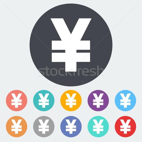 Yen icona cerchio business abstract design Foto d'archivio © smoki