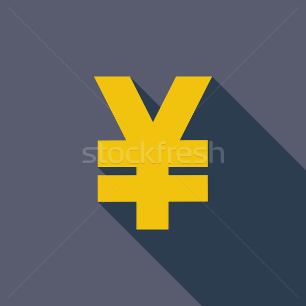 Yen icono eps vector largo sombra Foto stock © smoki