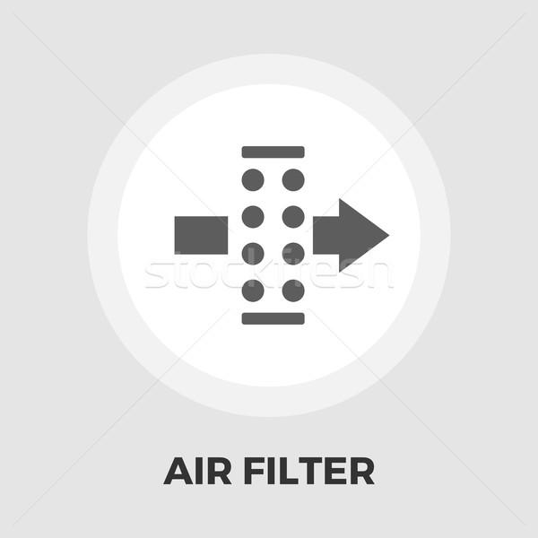 Air filter flat icon Stock photo © smoki