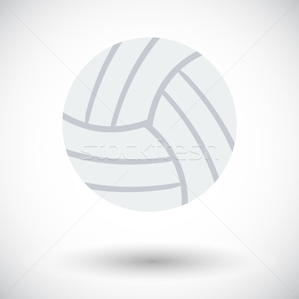 Volleybal icon witte fitness gezondheid reizen Stockfoto © smoki