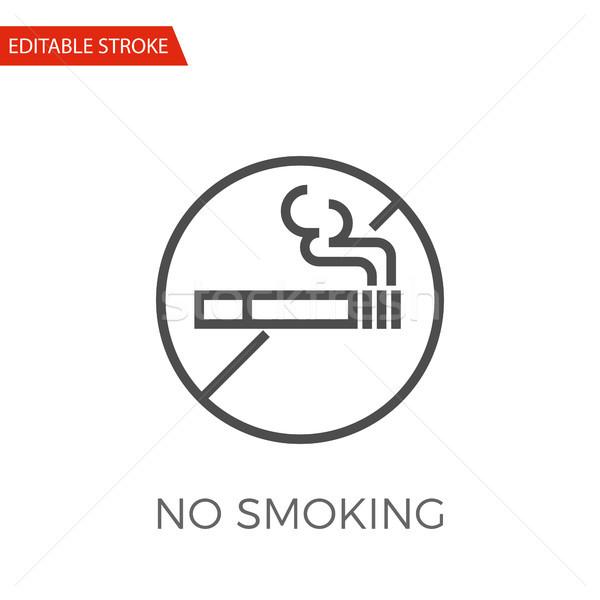 No Smoking Vector Icon Stock photo © smoki