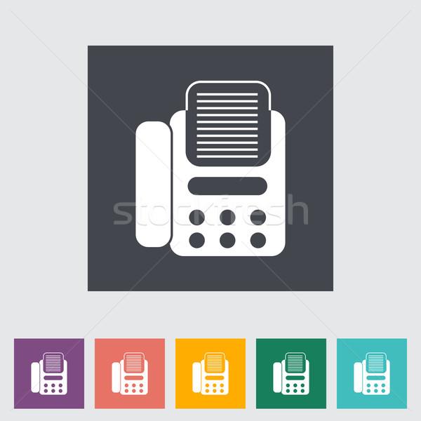 Fax icône eps affaires bureau téléphone Photo stock © smoki