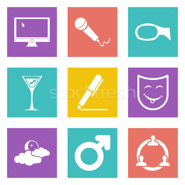 Icons for Web Design set 21 Stock photo © smoki