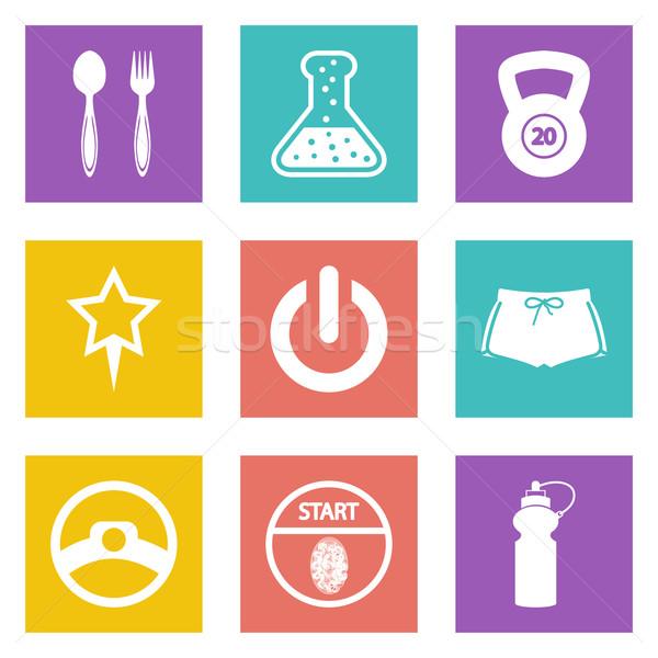 Color icons for Web Design set 41 Stock photo © smoki