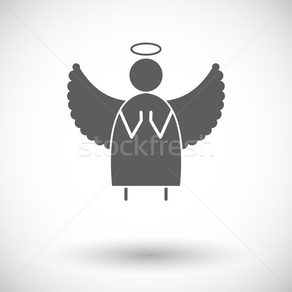 ángel icono vector web móviles aplicaciones Foto stock © smoki