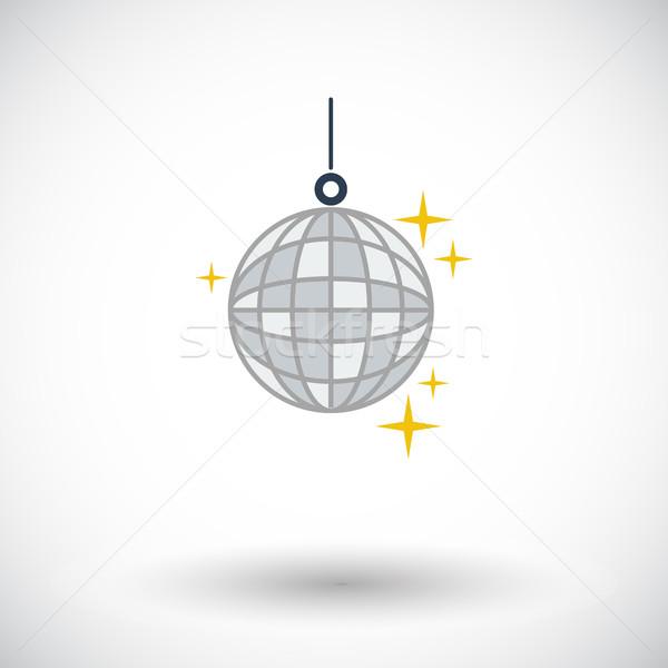 Disco ball icon witte muziek dans ontwerp Stockfoto © smoki