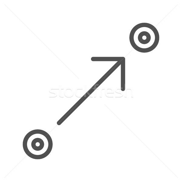 Route planner line icon Stock photo © smoki