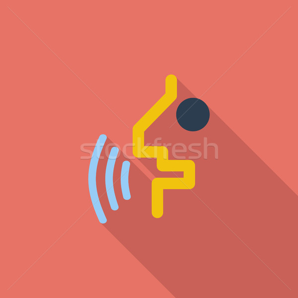Voice recognition button. Stock photo © smoki