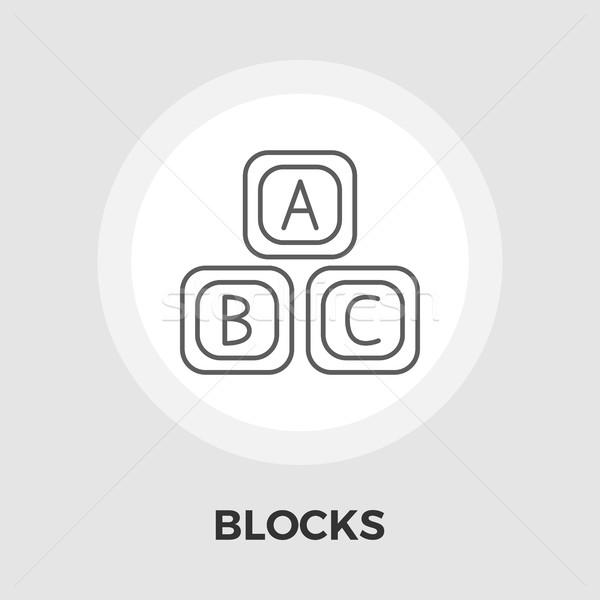 Blocchi vettore icona isolato bianco Foto d'archivio © smoki