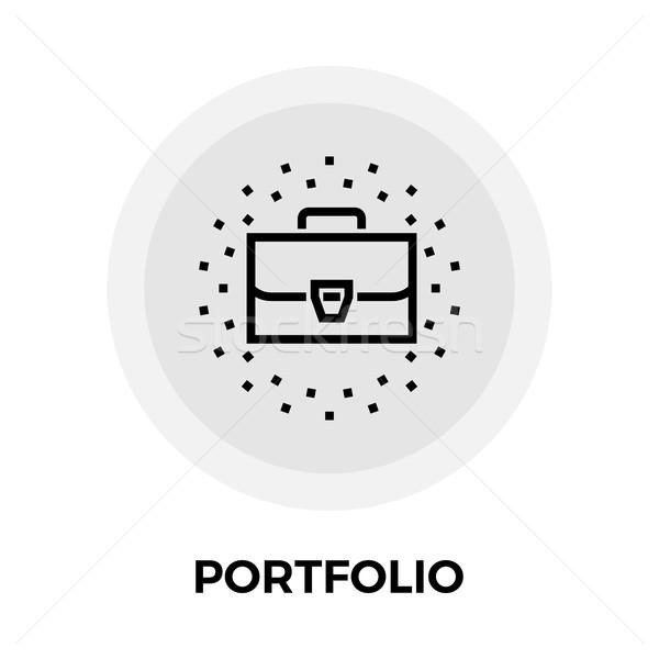 портфеля линия икона вектора изолированный белый Сток-фото © smoki