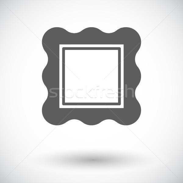 Fotolijstje icon witte ontwerp kunst foto Stockfoto © smoki