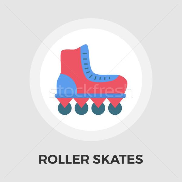 Roller skate vector flat icon Stock photo © smoki