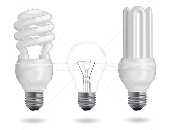 Enerji verimliliği ampul floresan ampuller ışık teknoloji Stok fotoğraf © smoki