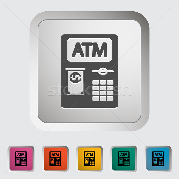 Atm icône affaires argent clavier art Photo stock © smoki