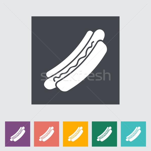 Hot Dog продовольствие дизайна знак хлеб обеда Сток-фото © smoki