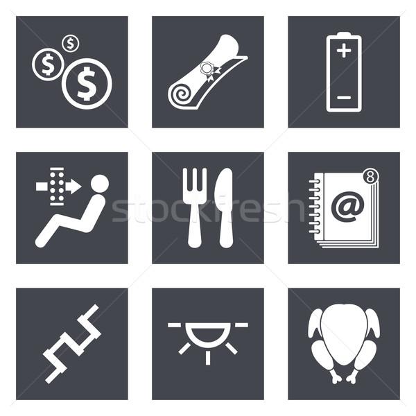 иконки веб-дизайна набор 16 мобильных применения Сток-фото © smoki