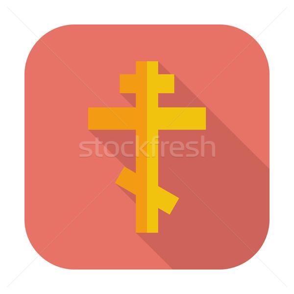 Foto d'archivio: Cross · icona · colore · design · chiesa · pittura