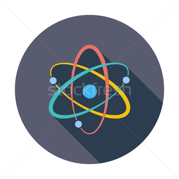 Atomo icona colore abstract tecnologia arte Foto d'archivio © smoki