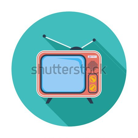 TV single icon. Stock photo © smoki