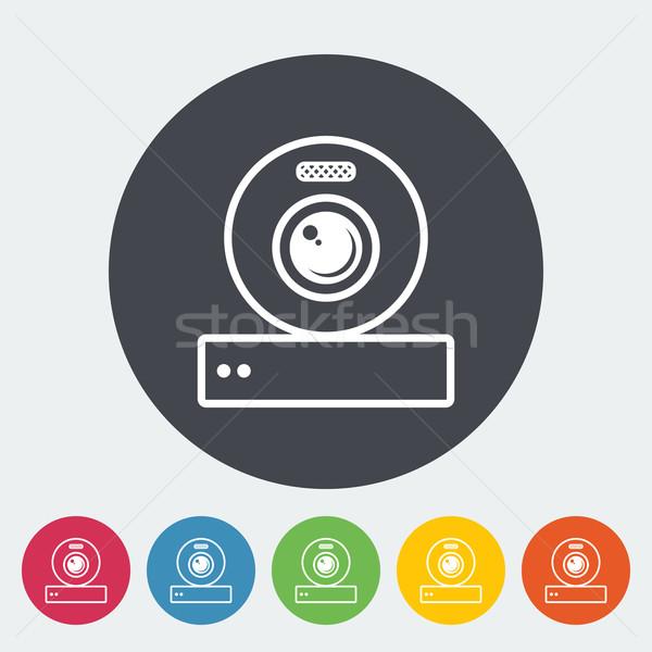 ウェブカメラ アイコン サークル ビジネス 技術 会議 ストックフォト © smoki