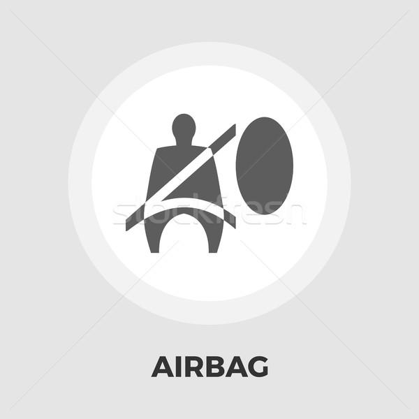 Hava yastığı ikon vektör yalıtılmış beyaz düzenlenebilir Stok fotoğraf © smoki