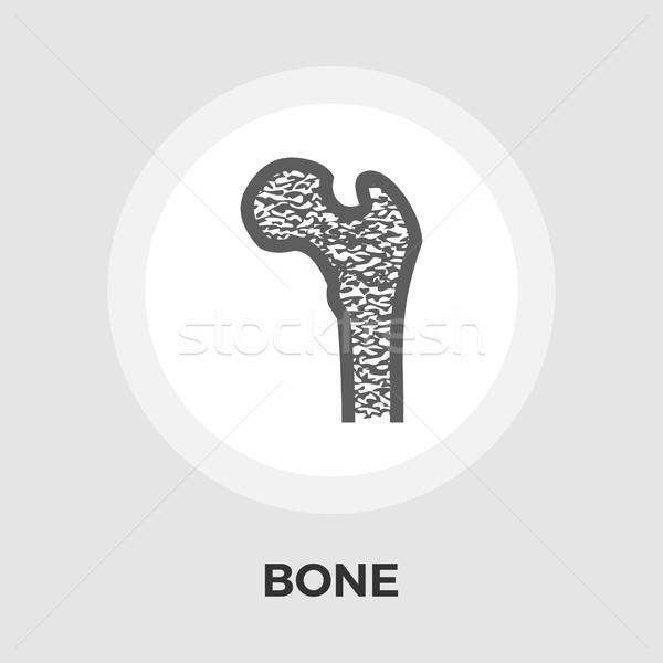 Osseuse icône vecteur isolé blanche Photo stock © smoki