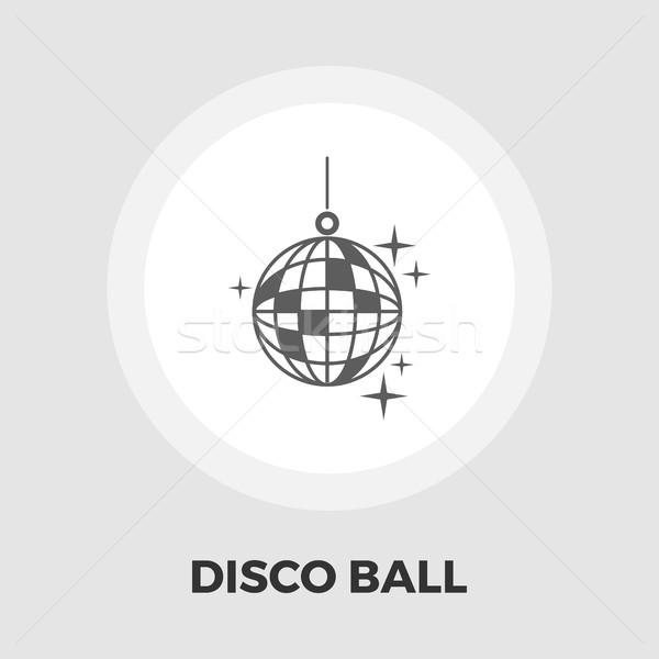 Disko topu ikon vektör yalıtılmış beyaz düzenlenebilir Stok fotoğraf © smoki
