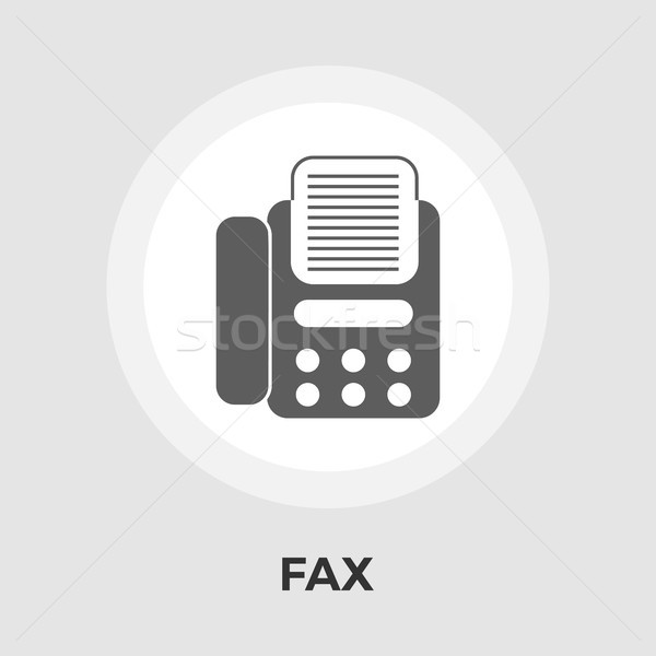 ファックス アイコン ベクトル 孤立した 白 ストックフォト © smoki