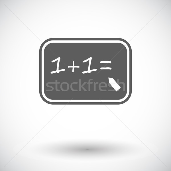 Matematika ikon fehér iskola diák oktatás Stock fotó © smoki