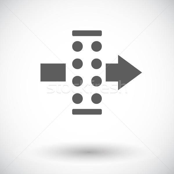 Aria filtrare icona bianco segno arrow Foto d'archivio © smoki