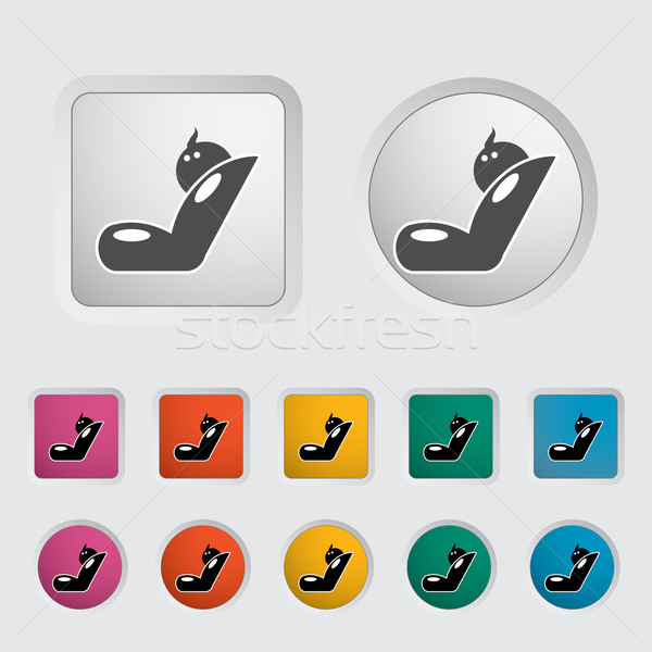 Child car seat icon. Stock photo © smoki