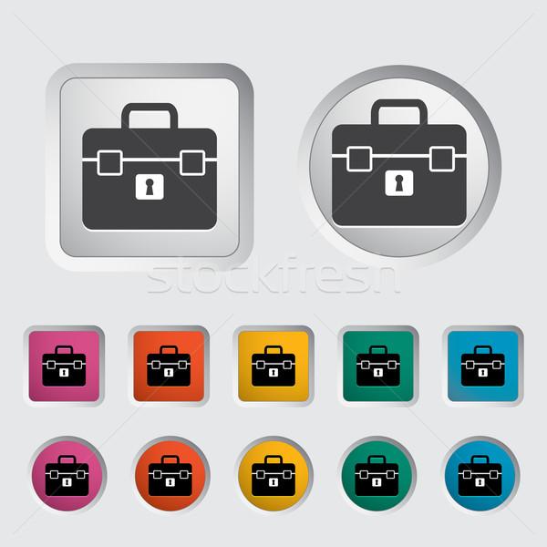 Сток-фото: портфель · икона · служба · работу · знак · синий