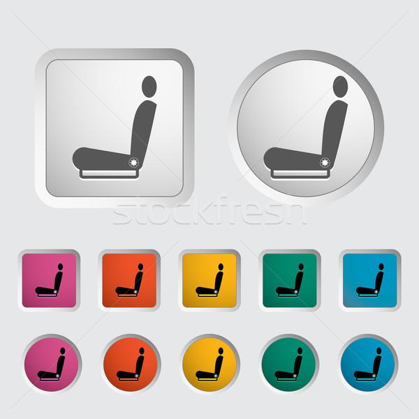 Icon heated seat. Stock photo © smoki