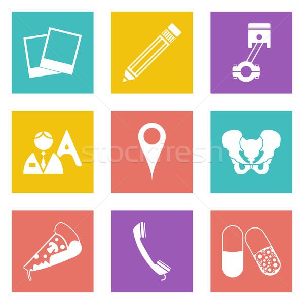 Icons for Web Design set 23 Stock photo © smoki
