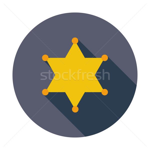 Politie icon kleur ontwerp teken recht Stockfoto © smoki