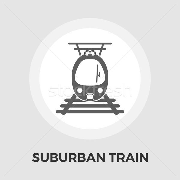 Suburban electric tren icoană vector izolat Imagine de stoc © smoki