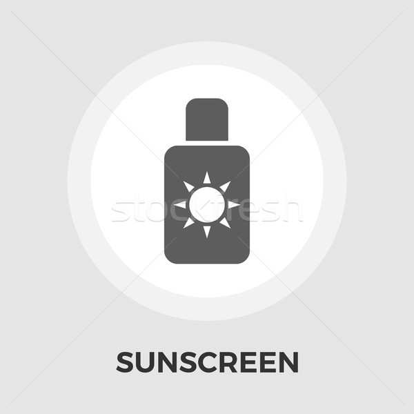 Protezione solare vettore icona isolato bianco Foto d'archivio © smoki