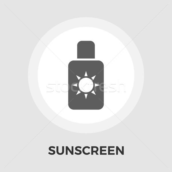 Protector solar vector icono aislado blanco Foto stock © smoki