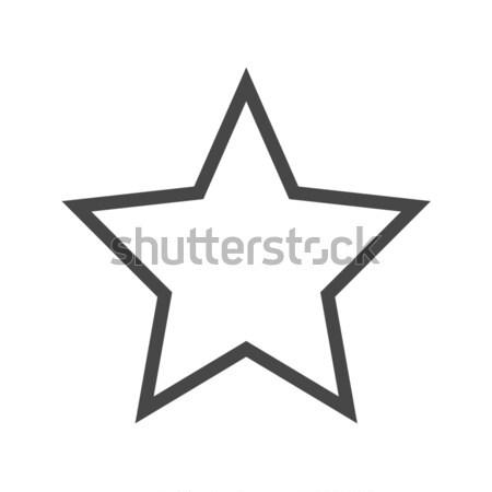 звездой тонкий линия вектора икона изолированный Сток-фото © smoki