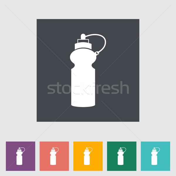 Sport une bouteille d'eau icône boire bouteille énergie Photo stock © smoki