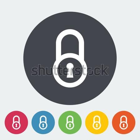 Foto d'archivio: Lock · icona · cerchio · computer · sicurezza · web