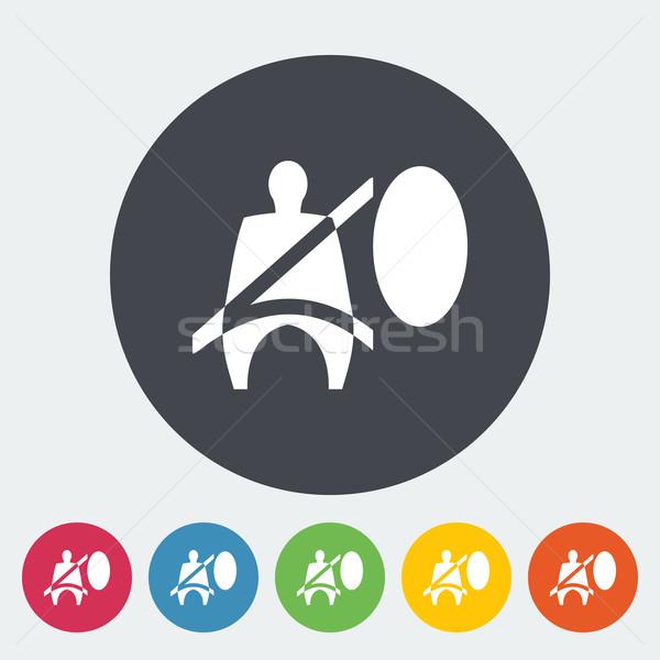 座席 ベルト アイコン サークル にログイン 自動 ストックフォト © smoki