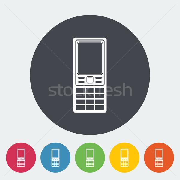 телефон икона круга контроля мобильных экране Сток-фото © smoki