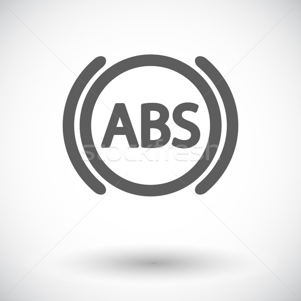 ABS flat single color icon. Vector illustration. Stock photo © smoki
