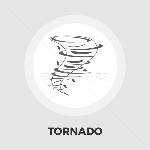 торнадо икона вектора изолированный белый Сток-фото © smoki