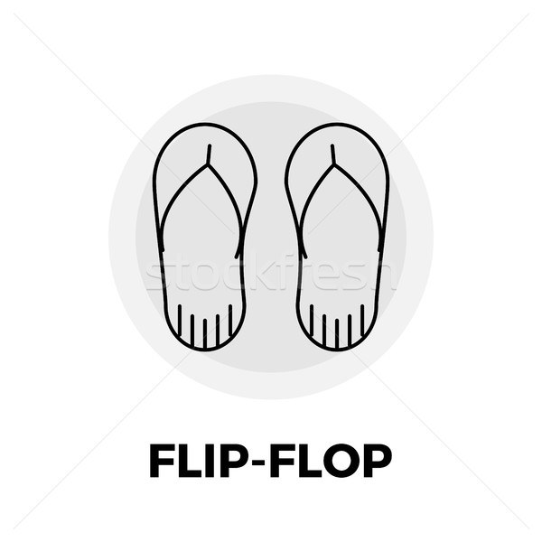 Flip-Flop Line Icon Stock photo © smoki