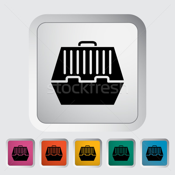 Pet carrier icon Stock photo © smoki