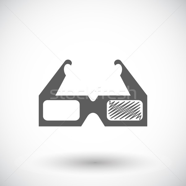 Glasses 3D single icon.  Stock photo © smoki